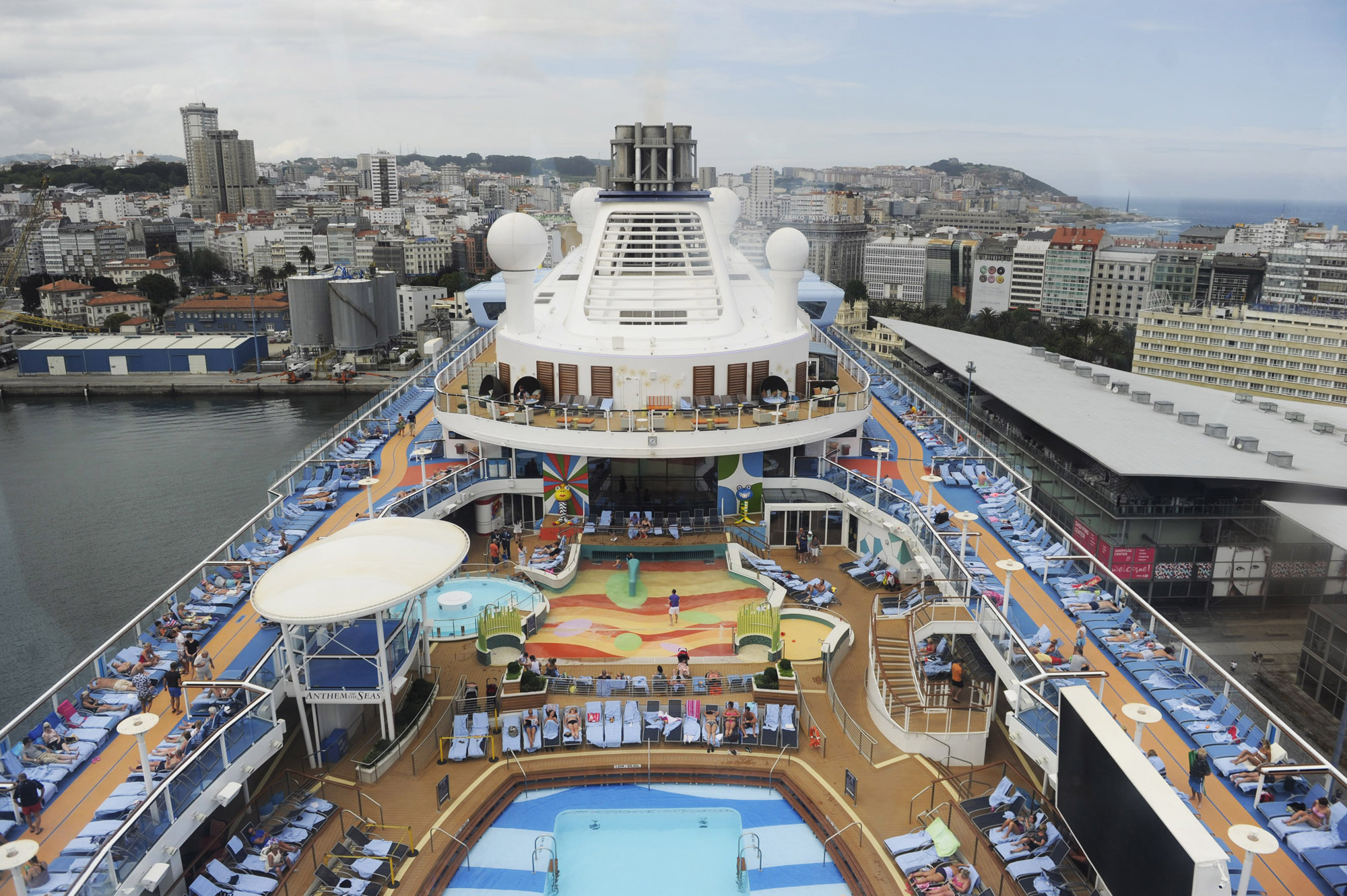 "Vista panorámica desde la cápsula ""North Star"" del crucero Anthem of the Seas. Junio 2015"